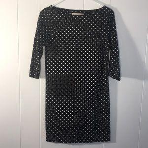 Zara Knit 3/4 sleeve dress polka dots
